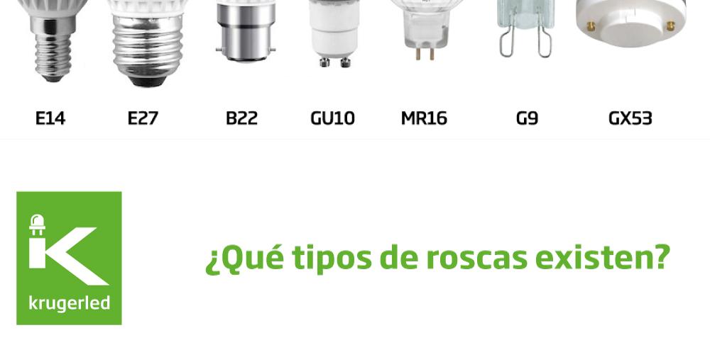 Tipos de roscas blog recursos y trucos for Tipos de bombillas led para casa